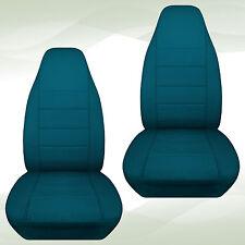 CC  fits Jeep YJ-TJ-LJ-JK Front set CAR SEAT COVERS cotton solid 23 colors