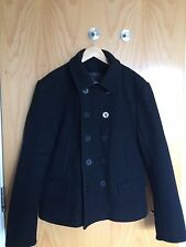 All Saints Double Breasted Wool Pea Coat Size L