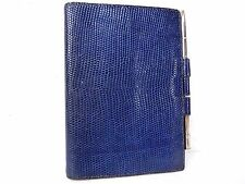 Authentic Hermes Lizard Leather Agenda Diary Cover Case w/ ballpoint pen N252