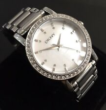 Ladies DKNY Lexington Designer Watch NY4791 Diamond Silver Mop Genuine