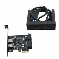 "4 Ports USB 3.0 3.5"" Floppy Bay Front Panel with expansion PCI-E Express Card"