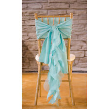 SPA TIFFANY BLUE TAFFETA CURLY WILLOW WEDDING CHAIR SASH