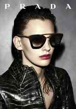 PRADA CINEMA SPR 09Q TORTOISESHELL AND GOLD CAT EYE SUNGLASSES