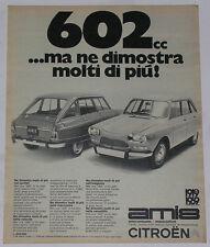 Advert Pubblicità 1969 CITROEN AMI 8