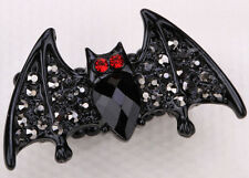 Bat stretch ring halloween bling jewelry gift for women girls black 2
