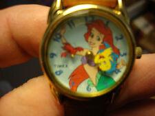 Vintage Disney's THE LITTLE MERMAID TIMEX Watch Ariel Flounder Sebastian 3D Sec.