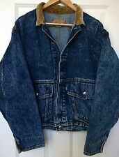 Vintage Levi Strauss ACID WASH Denim Jean CORDUROY Jacket 75073-0227 Medium M