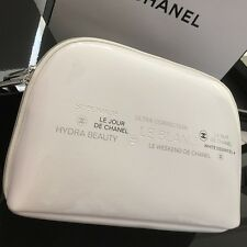 CHANEL Large Skincare Product Range Cosmetic Bag / Pouch ~White Limited NEW