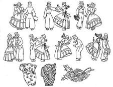 Vintage Embroidery Transfer repo Dutch Boys & Girls for Towels scarfs Cloths