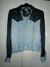 Vintage 1970s Denim and Satin embroidered Cowboy shirt ( Marshall Lester)