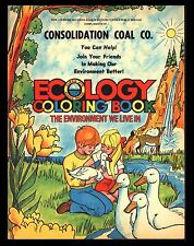 "VINTAGE 1972 ""ECOLOGY"" CHILDREN'S COLORING BOOK-UNUSED-CONSOLIDATION COAL CO."
