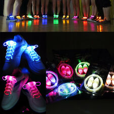 5 Pairs/Lot LED Waterproof Light Up Shoe Laces with 3 Modes, Glowing in Nights