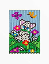 Baby White Tiger Pony Bead Banner Pattern