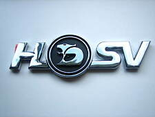 HSV VR VS CLUBSPORT 'HSV' LOGO BOOT LID BADGE BLACK AND CHROME GENUINE HSV