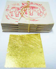 Gold Leaf 24K pure - 100 sheets for Art Craft Gilding Edible facial mask