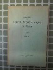 Annales Cercle Archéologique de Mons T57 1940 Mines Charbonnages d'Houdeng