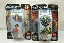 LEGO GALIDOR ACTION FIGURES LOT 2 ALLEGRA 8317 EURIPIDES 8324 MOC 2002 DEFENDERS