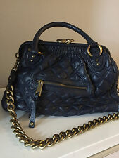Marc Jacobs Stam Purse Handbag Quilted leather Navy Blue Pre-owned