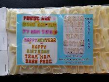 Jello Molds 27 Alphabet Cutter Set , Khuon rau cau, Dong Suong