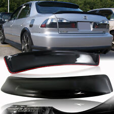 Black Acrylic Rear Roof Window Visor Spoiler For 1998-2002 Honda Accord 4 Door