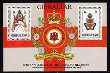 102714/ Gibraltar 1989 - Bl. 12 - Gibraltar Regiment - ** - M€ 5,00 - TOPP MOTIV