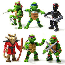 6X/Set Teenage Mutant Ninja Turtles TMNT Action Figures Collection Toys Set Gift