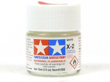 Tamiya Color X-2 White 1/3 Oz. 10ml Bottle Acrylic Hobby Model Paint