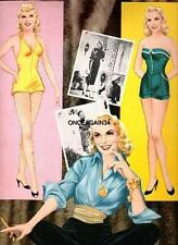 VINTAGE UNCUT 1957 JANET LEIGH PAPER DOLLS *HOLLYWOOD GLAMOUR* ~#1 REPRODUCTION!