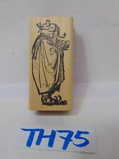 SCRAPBOOK WOOD MOUNTED RUBBER STAMP CATALOG MAN-SANTA CLAUS WITH HOUSE AS HEAD