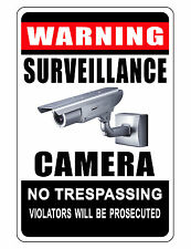 NO TRESPASSING Sign.Keep Criminals Away VIDEO SURVEILANCE SIGN. Aluminum Metal