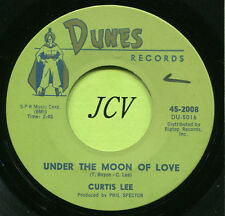 CURTIS LEE 'Beverly Jean / Under The Moon Of Love'  R&B-SOUL 45  RPM  RECORD