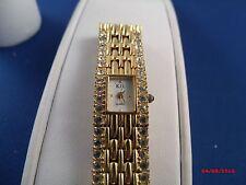 Vintage KJL KENNETH JAY LANE clear rhinestone   NEW BATTERY Bracelet Watch