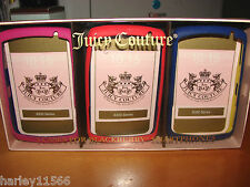 JUICY COUTURE 3 PACK  SILICONE CASES BLACKBERRY/ BOLD NWT RARE & HARD 2 FIND!!