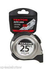 TEKTON 71963  25 ft. x 1 in. Auto Lock Tape Measure with Stainless Steel Housing