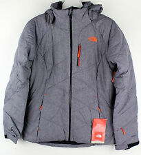 The North Face Womens Manza Grey Stone Black Heather Down Jacket Size Small