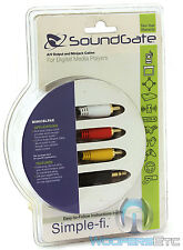 SOUNDGATE MINICBLPAK 3.5MM AUX TO RCA WIRE OUTPUT CABLE AUDIO HOME OR CAR STEREO