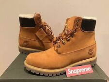 Timberland Men's Waterproof 6 inch Wheat Fur Lined Boot TB0A13GA size 9.5