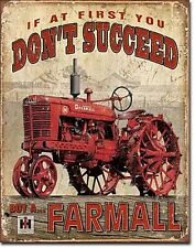 Placa Metálica Farmall If At First You Don't Succeed (de)