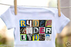 RYDER Baby Bodysuit in Sign Letter Photos - 100% Cotton & Short Sleeve