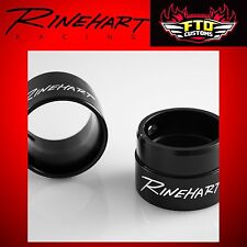 "Rinehart Racing Exhaust 2.5"" Standard End Caps Black (pair) HD Touring"