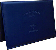 Authentic Franck Muller Navy Leather Wallet Document Warranty Certificate Holder