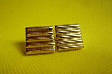 "VINTAGE SWANK  CUFF LINKS-3/4""-Barred-Gold Tone"