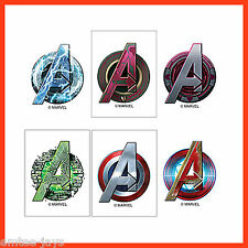 Avengers Logo Tattoos x 12 pieces - Party Favours - Birthday Loot Bag Idea Games