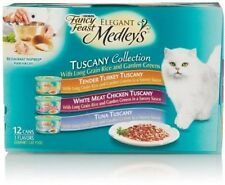 Fancy Feast Cat Kitten Wet Fool Elegant Medleys Turkey Chicken Tuna 12 Cans