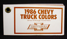 1986 CHEVROLET TRUCK  PAINT COLOR CHIPS - PICK-UP, BLAZER, SUBURBAN ETC