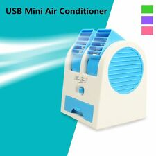 New Mini Small Fan Cooling Portable Desktop Dual Bladeless Air Conditioner USB