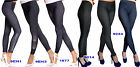 Leggings Damen Skinny Stretch Hose Jeans-Look Röhre Leggins Treggings Jeggings