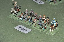 25mm ACW confederate 12 infantry & 2 cavalry (4081) metal painted