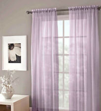 "LAVENDER 2 PANELS VOILE SHEER FABRIC WINDOW CURTAIN DRAPE ROD POCKET 55""X84"""