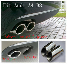 Stainless steel exhaust muffler tip For AUDI A4 B8 2.0 2009 2010 2011 2012 2013